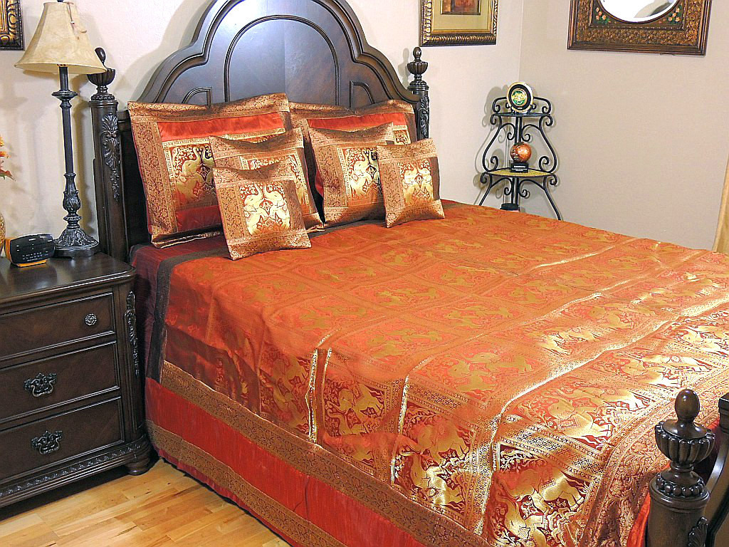 Bollywood Themed Bedding – Decorative Indian Bedroom Décor with ...