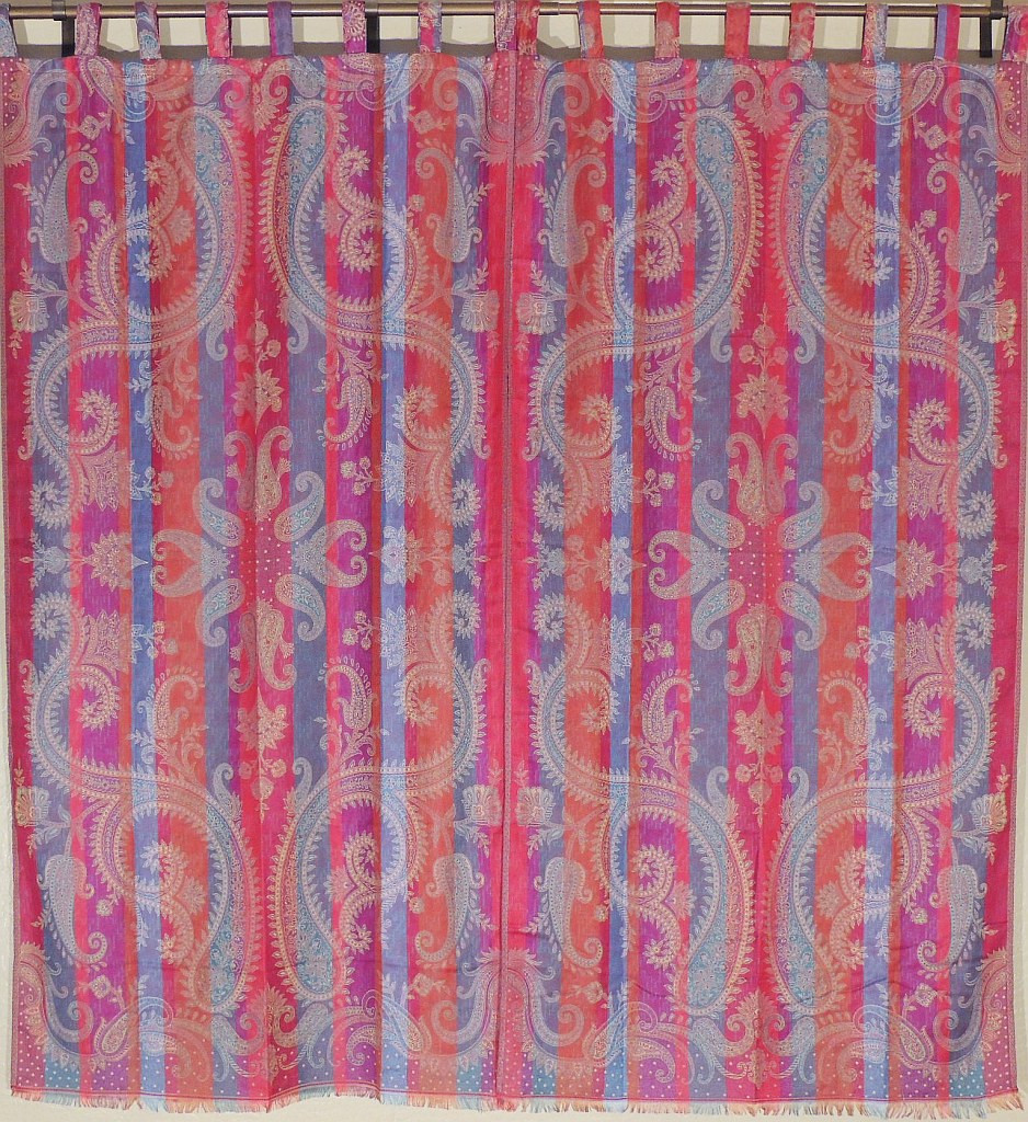 Beautiful Indian Curtains Large Paisley Woven Designer