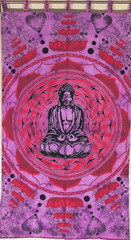 Buddha Wall Art - Cotton Print Purple Huge Inspirational Tapestry