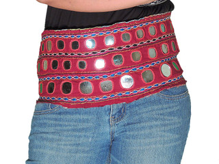 Gypsy Skirt Belt - Kuchi Mirror Tribal Costume Accessory from India