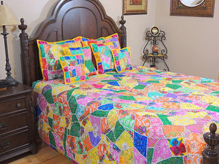 India Inspired Decorative Bedding Ethnic 7p Sari Unique Bohemian Bedding Duvet