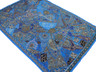 """Blue Huge Indian Wall Hanging - Handmade Beaded Decorative Textile Tapestry 90"""""""