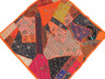 """Orange Decorative Indian Wall Hanging - Patchwork Square Beaded Tapestry Textile 38"""""""