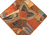 """Rust Brown Decorative Indian Wall Hanging - Square Beaded Tapestry Textile 38"""""""