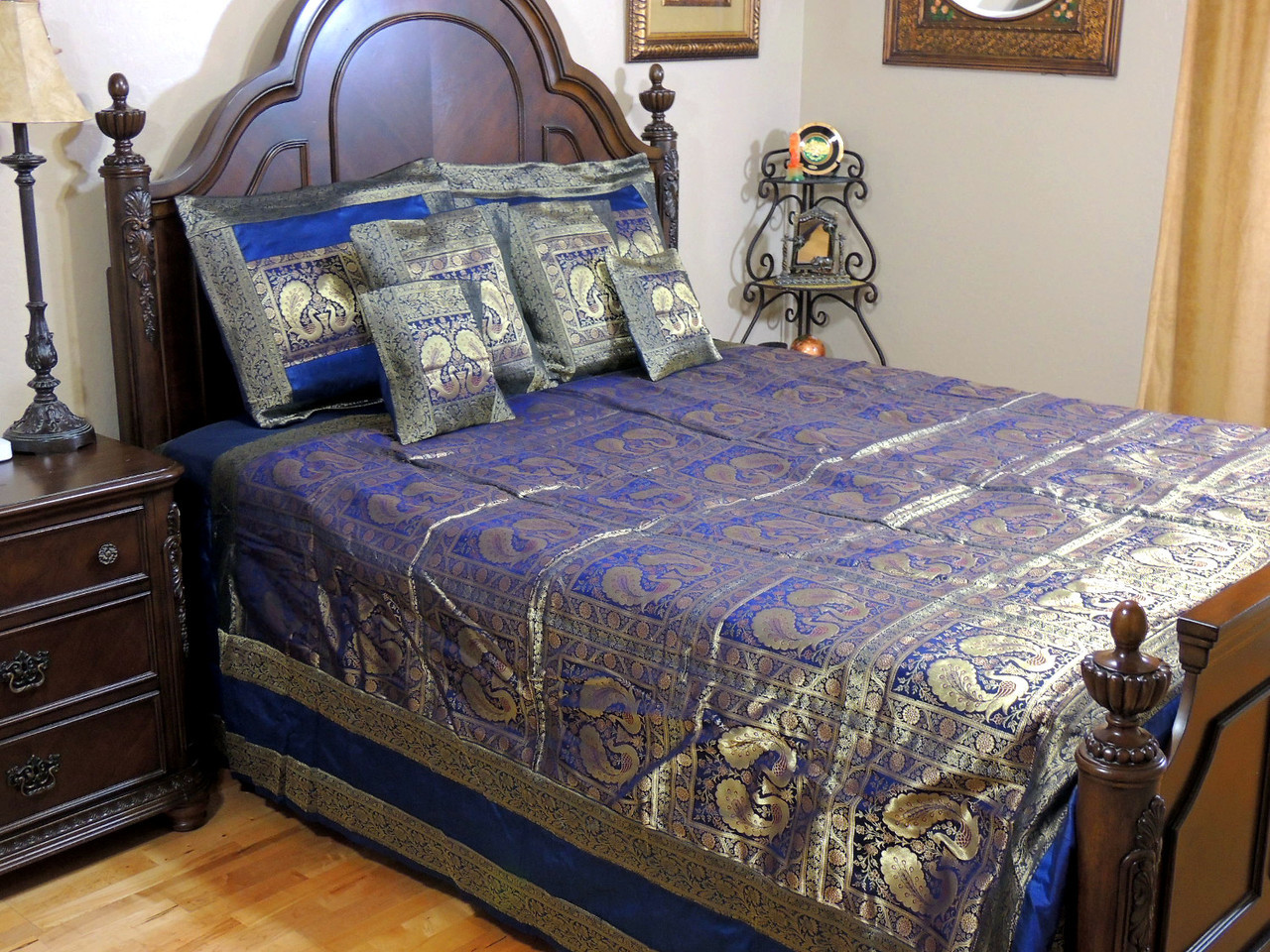 Very best India Style Bedding   Sari Duvets & Coverlet   Peacock & Elephant Sets DH85