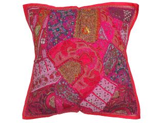 Hot Pink Large Square Decorative Pillow Cover ~ Tapestry Floor Euro Cushion Sham ~ 26 Inch