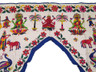 Ornate Embroidered Doorway Hanging Gate Vintage Decor Valance Door Covering 42in