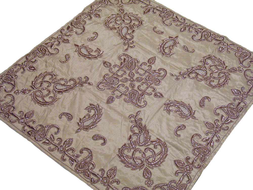Fine Designer Table Linen Beautiful Exotic Dabka Handmade Wedding Tablecloth