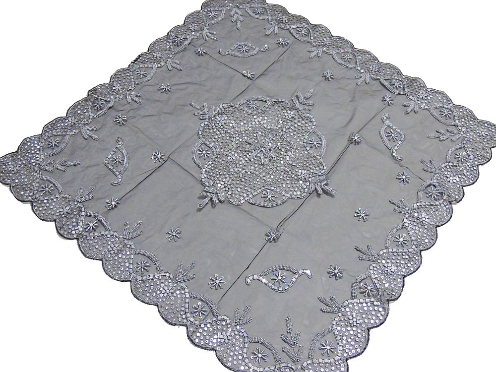 Exceptionnel Luxury Floral Beaded Tablecloth India Handcrafted Elegant Designer Table  Linen.