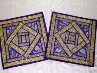 2 Purple Bedding Bedroom Throw Pillow Covers Shams