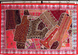 Vintage Indian Big Wall Tapestry Art Decorative Throw