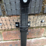 This is a ProtectaPet® Cat Fence Extension Left Corner Post to cat proof the perimeter of a garden fence or wall which is between 2ft - 5ft tall (0.6 -1.5 metres). The post extension is designed to fit fence wooden posts or low walls.