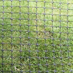 A sample of 80gsm high tensile plastic mesh. This is used between brackets all around the cat containment boundary.