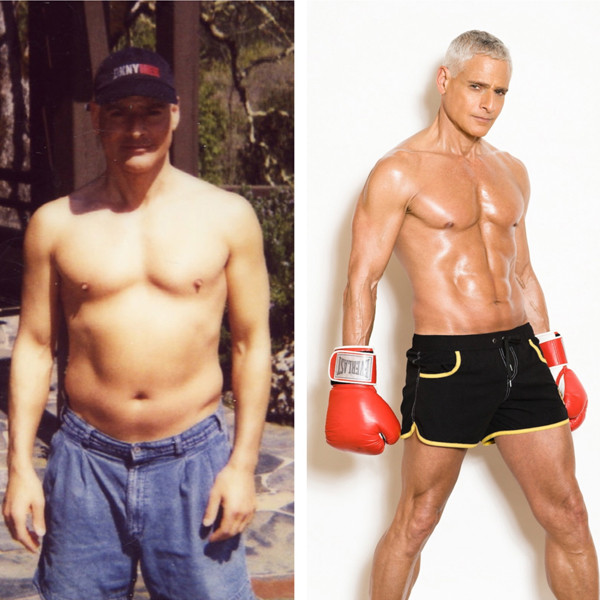 Rick Dinihanian, founder of Burn & Build Body. At 49 and after, in his mid 60's.