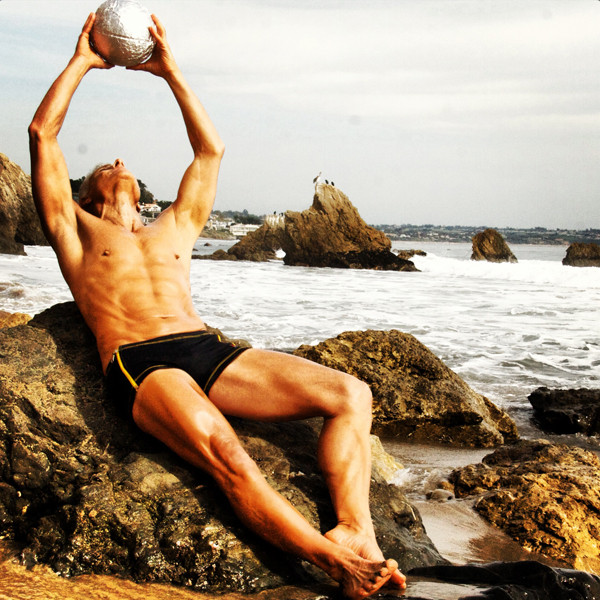 Titanium powered at the beach. Rick Dinihanian co-founder of Burn & Build Body