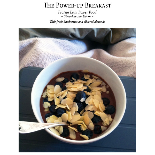 Protein Lean Power Food - The power breakfast, awesome with blueberries and slivered almonds.