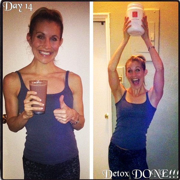 Merisa Merliss, fitness model – Celebrating how great she feels on day 14 of her detox.