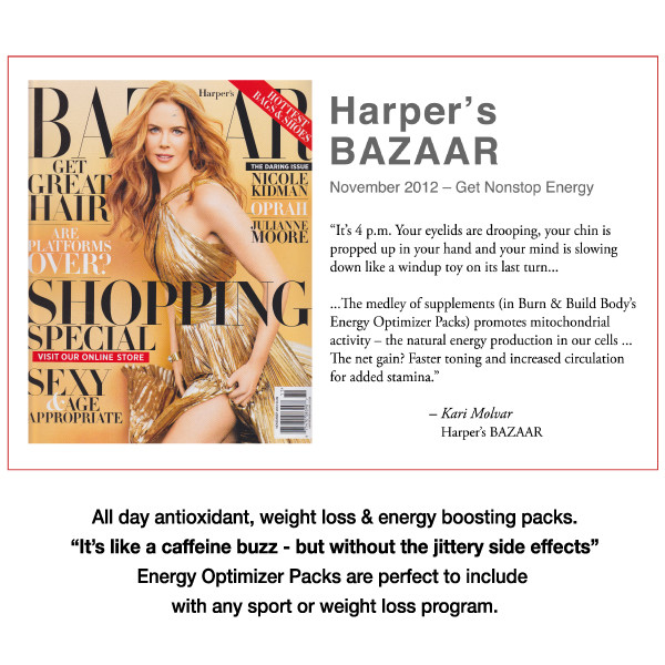 """Recommended by Harper's BAZAAR for all day energy without the """"jitters""""."""