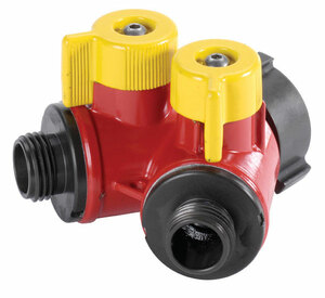 "2 Way BiPok Wildland Valve 1.5"" F NST Inlet X (2) 1.0"" M NPSH Outlet - 1.5"" - 1.0"" - Long"