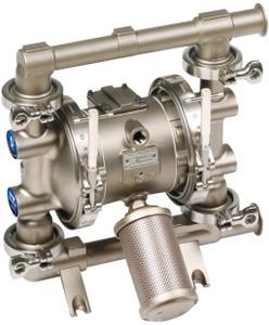Graco 1040 FDA-Compliant 1 in. Double Diaphragm Sanitary Pumps - 1.5 in. - SST/PTFE - Santoprene - Santoprene