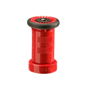 United Fire Safety 1 1/2 in. Chicago (FD) Combination Stream Fog Shut-Off Nozzle