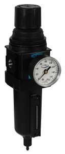 Dixon Wilkerson 1/2 in. Standard Filter/Regulator w/ Metal Bowl & Sight Glass, Auto Drain - 165 SCFM