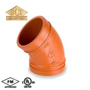 Smith Cooper 1 1/2 in. Grooved 45° Elbow - Standard Radius