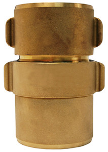 Dixon Powhatan 1 1/2 in. NH (NST) Brass Expansion Ring Rocker Lug Coupling for Rack Hose - 1 11/16 in. Bowl Size