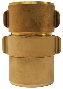 Dixon Powhatan 1 1/2 in. NPSH Brass Expansion Ring Rocker Lug Coupling for Single Jacket - 1 13/16 in. Bowl Size