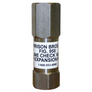 Morrison Fig. 958 3/4 in. NPT In-Line Check Valve w/ Expansion Relief