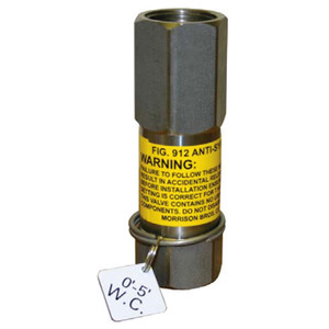 Morrison 912 Series Anti-Siphon Valve w/ Expansion Relief - 1/2 in. - 9.26 in/Hg