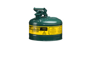 Justrite Type I 2.5 Gal Safety Gas Can (Green)