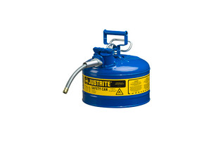 Justrite Type II AccuFlow 2 Gal Safety Gas Can w/ 5/8 in. Spout (Blue)