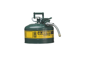 Justrite Type II AccuFlow 1 Gal Safety Gas Can w/ 5/8 in. Spout (Green)