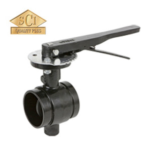 Smith Cooper 3 in. Grooved End Butterfly Valve w/ Lever Handle