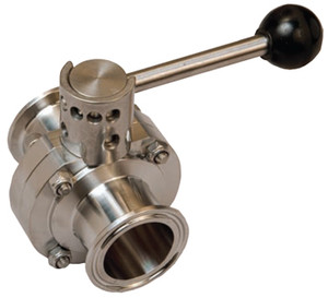 Dixon Bradford Butterfly Valves Pull Handle 316L Stainless Steel - 1 in. - Steel W/ EPDM Seal