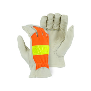 Majestic High Visibility Large Unlined Driver Gloves