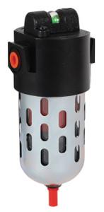 Dixon Wilkerson 3/8 in. Coalescing Filters w/Transparent Bowl & Guard, Auto Drain - 44.7 SCFM