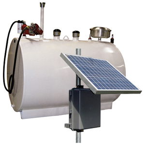 Double Wall 550 Gallon Skid Tank w/ 20 GPM Solar Powered Pump Package