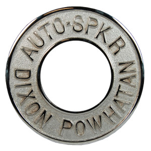 Dixon Powhatan 2 1/2 in. x 3 1/4 in. Chrome Plated Round Identification Auto-Sprinkler Plate