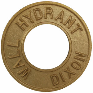 Dixon Powhatan 2 1/2 in. x 3 1/4 in. Round Identification Wall Hydrant Plate