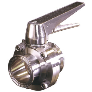 Bradford Butterfly Valves Trigger Handle 316 Stainless Steel - 1 1/2 in. - W/ Viton Seal