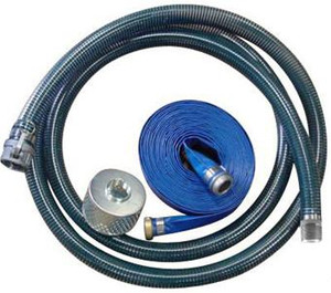 PVC Water Suction/Discharge Hose w/ Strainer & Camlock Couplings - 3 in.