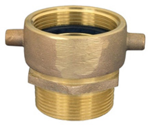 Dixon Powhatan 1 1/2 in. NH(NST) x 1 1/2 in. NPT Pin Lug Brass (Open Snoot) Male Swivel Adapter