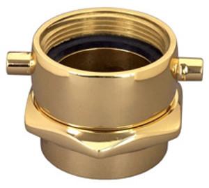 Dixon Powhatan 1 1/2 in. NH(NST) x 1 1/2 in. NPT Brass Pin Lug  (Open Snoot) Female Swivel Adapters