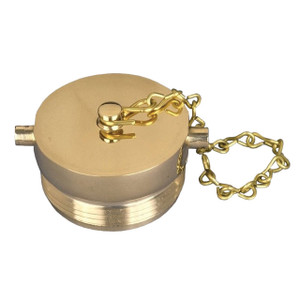 1 1/2 in. NH(NST) Dixon Powhatan Brass Plug & Chain - Pin Lug (Polished)