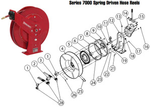 Reelcraft Series 7000 Reels - Replacement Parts - Low - 5 - Drive Spring Assembly - 7600 7607 & 7670 - 1