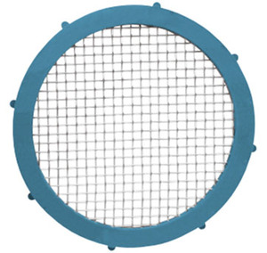 Rubber Fab Camlock 1 1/2 in. Platinum Silicon Metal Detectable Screen Gaskets - 20 Mesh