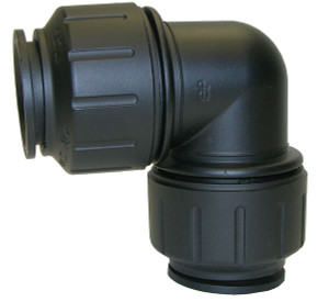 Black 3/4 in. CTS JG Twist & Lock Union Elbow Fitting - 3/4 in. - 5