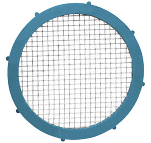 Rubber Fab Camlock 1 1/2 in. Platinum Silicon Metal Detectable Screen Gaskets - 100 Mesh